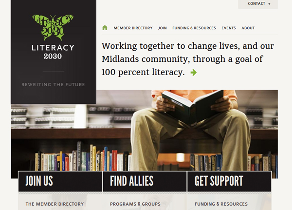 literacy 2030 25 Glorious Charity and Non Profit Web Designs