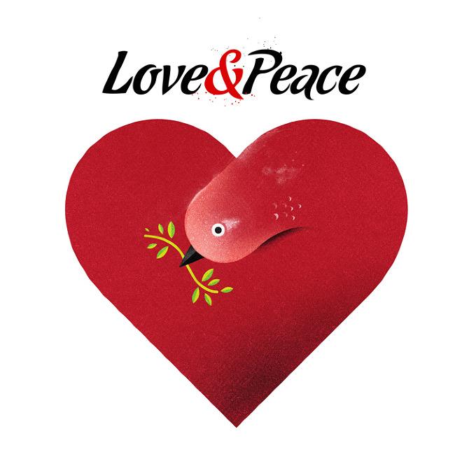 love peace1 Beautifully Textured Artwork by Dan Matutina