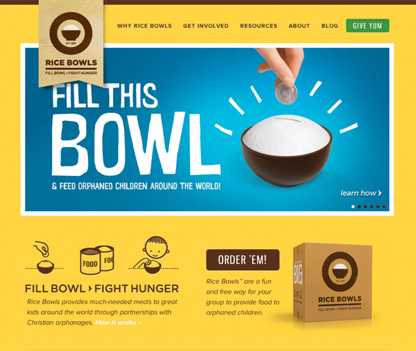 rice bowls1 25 Glorious Charity and Non Profit Web Designs