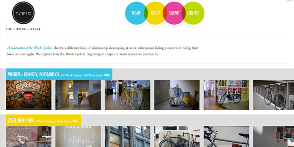 the work cycle Showcase of E Commerce/Sport Website Designs