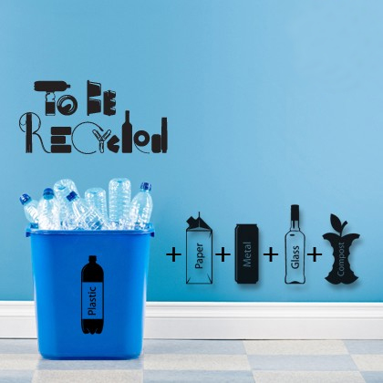 to be recycled 40 Innovative Wall Stickers by Hu2 Design