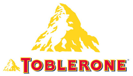 toblerone logo1 30 Clever Logos With Hidden Messages