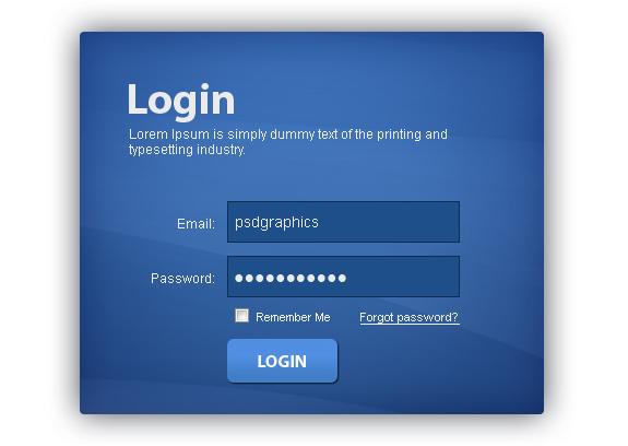 login screen template