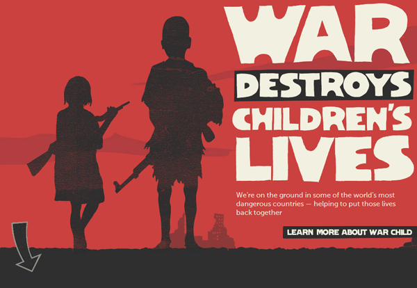 war child 25 Glorious Charity and Non Profit Web Designs
