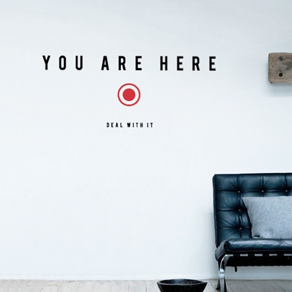 you are here sticker - Design Stickers For Walls