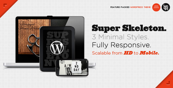00 super skeleton responsive wordpress   large preview1 40 Premium Responsive Portfolio WordPress Themes