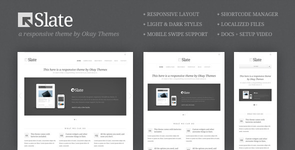 01 slate wordpress   large preview1 40 Premium Responsive Portfolio WordPress Themes