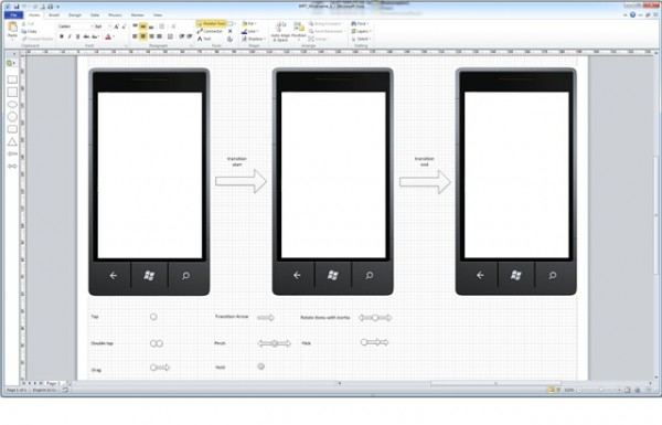 3 visio windows phone 7 wireframe template 600x3851 20+ Free Windows Phone 7 Mockup and Wireframing Resources