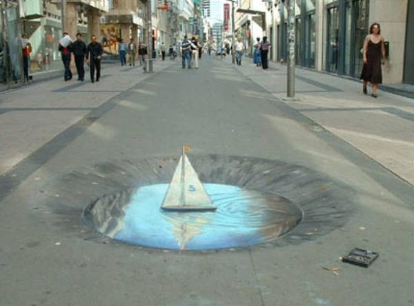 3d 41 30 Impressive 3D Sidewalk Chalk Artworks