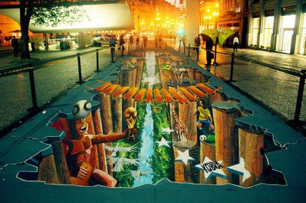 3d 451 30 Impressive 3D Sidewalk Chalk Artworks
