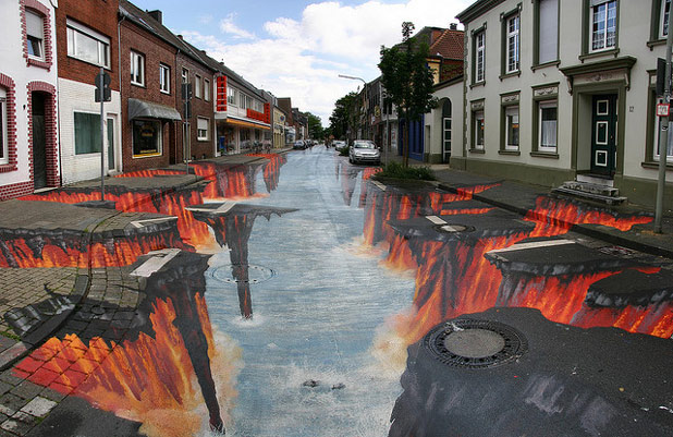 3d 471 30 Impressive 3D Sidewalk Chalk Artworks