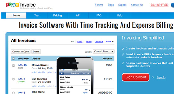 4  zoho invoice1 7 Awesome Cloud Based Invoicing Softwares Accessible from Google Apps