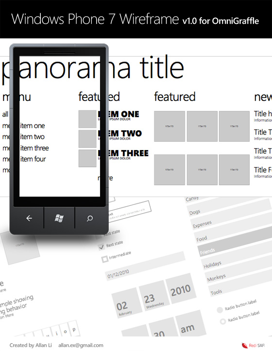 4 wp7 wireframe stencil v1 01 20+ Free Windows Phone 7 Mockup and Wireframing Resources