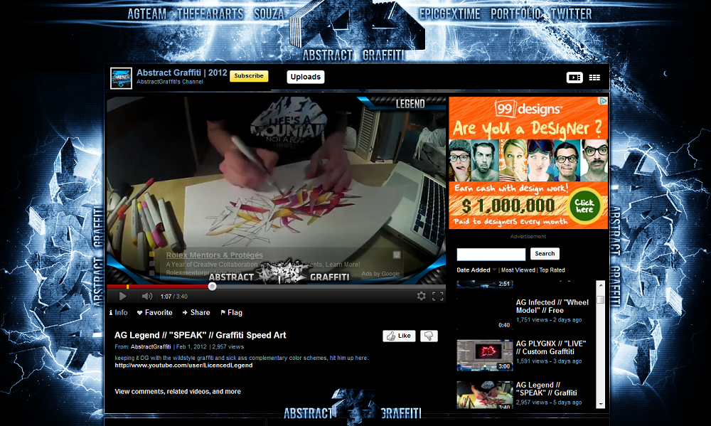 abstractgraffiti How to Brand Your Web Design Business Using YouTube