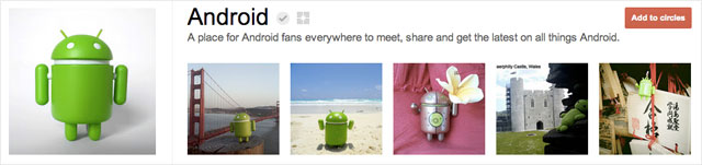 android1 25 Great Examples of Google Plus Brand Pages