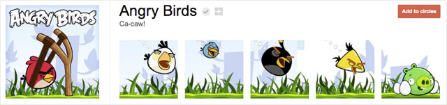angry birds1 25 Great Examples of Google Plus Brand Pages