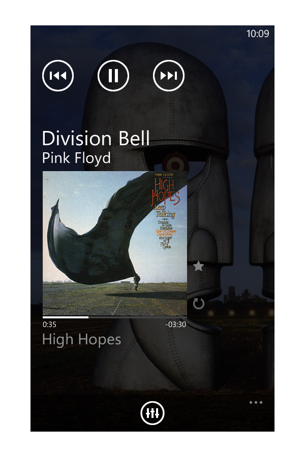audio player mango preview1 20+ Free Windows Phone 7 Mockup and Wireframing Resources