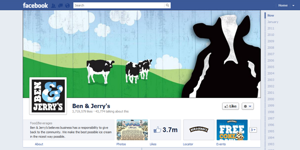 ben and jerrys New Facebook Timeline for Brands: Rookie to Pro Guide