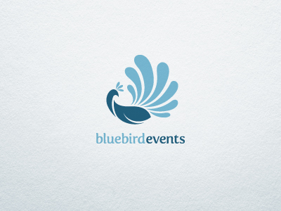 blue bird events dribbble1 55 Pleasant Examples of Bird Logo Designs