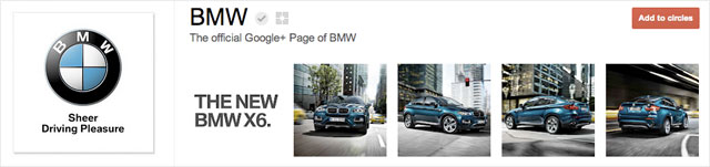 bmw1 25 Great Examples of Google Plus Brand Pages