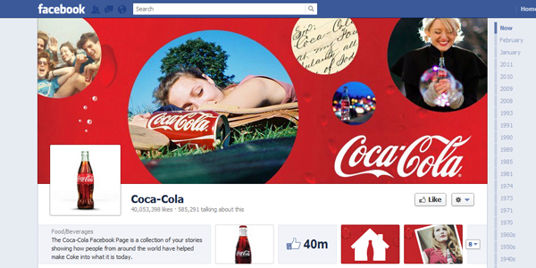 coca cola New Facebook Timeline for Brands: Rookie to Pro Guide