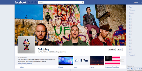 coldplay New Facebook Timeline for Brands: Rookie to Pro Guide
