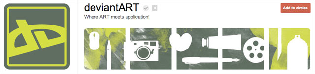 deviantart1 25 Great Examples of Google Plus Brand Pages
