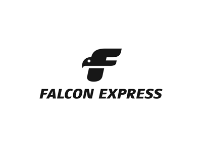 falcon express1 55 Pleasant Examples of Bird Logo Designs
