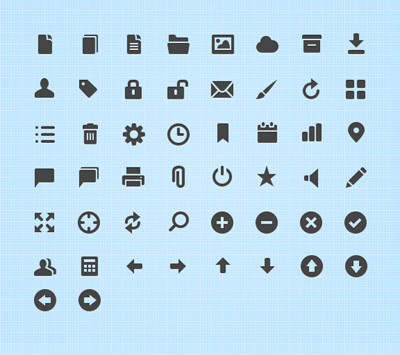free symbols and mini web icons 011 20 Free Professional Icon Sets For Download