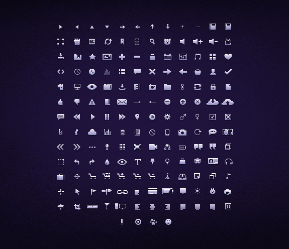 free symbols and mini web icons 061 20 Free Professional Icon Sets For Download