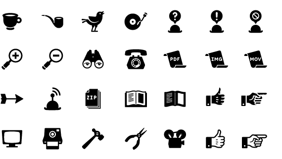 free ynbs retro icon set 101 20 Free Professional Icon Sets For Download