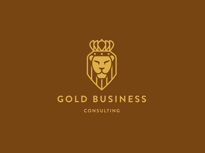 gold business1 50 Fierce Examples Of Lion Logos