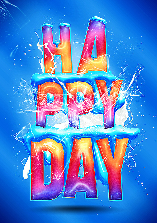 happy day l1 50 Remarkable Examples Of Typography Design #7