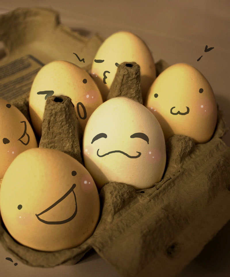 happy egg  by furryness1 30 Examples of Funny and Creative Egg Photography