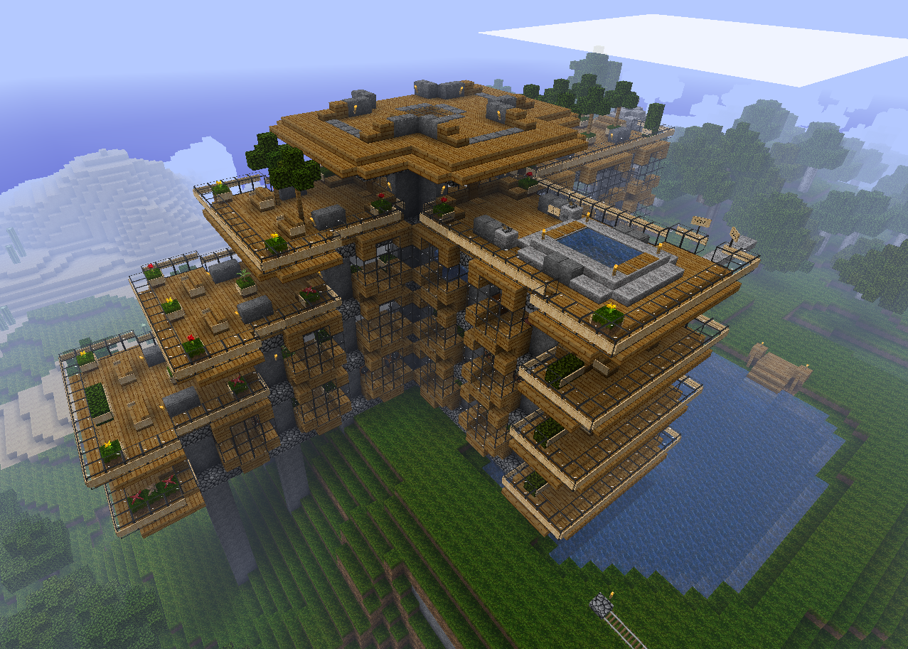 Off topic the flood show us your minecraft for Awesome home designs