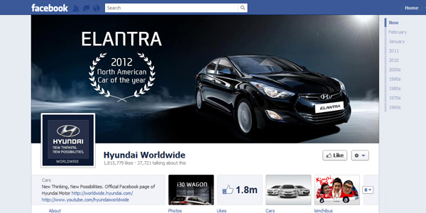 hyndai worldwide New Facebook Timeline for Brands: Rookie to Pro Guide