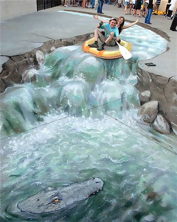julian beever street art 131 30 Impressive 3D Sidewalk Chalk Artworks