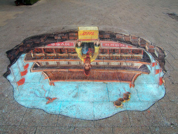 julian beever street art 21 30 Impressive 3D Sidewalk Chalk Artworks