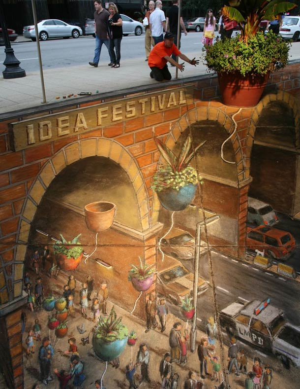 julian beever street art 51 30 Impressive 3D Sidewalk Chalk Artworks