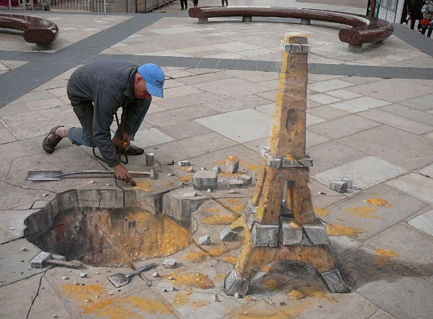 julian beever street art 81 30 Impressive 3D Sidewalk Chalk Artworks