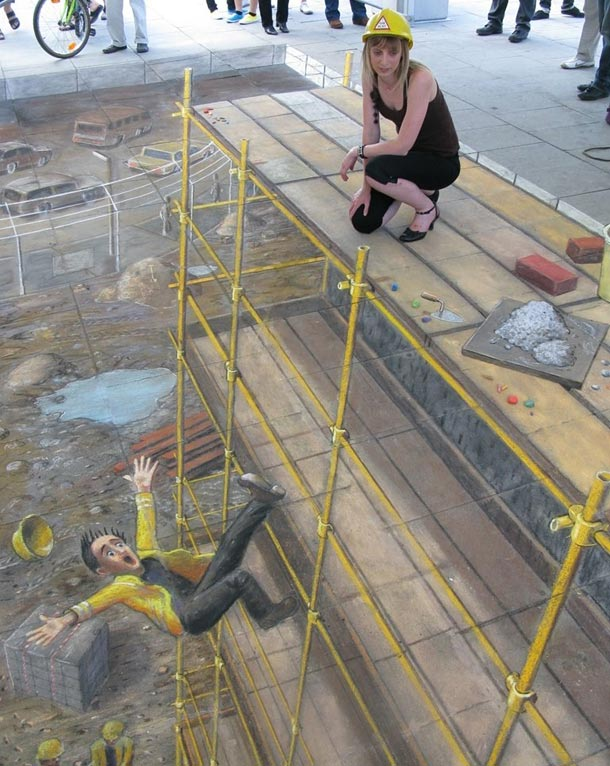julian beever street art 91 30 Impressive 3D Sidewalk Chalk Artworks