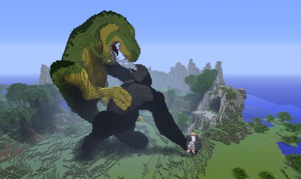 king kong 600x3571 40 Outstanding Minecraft Creations