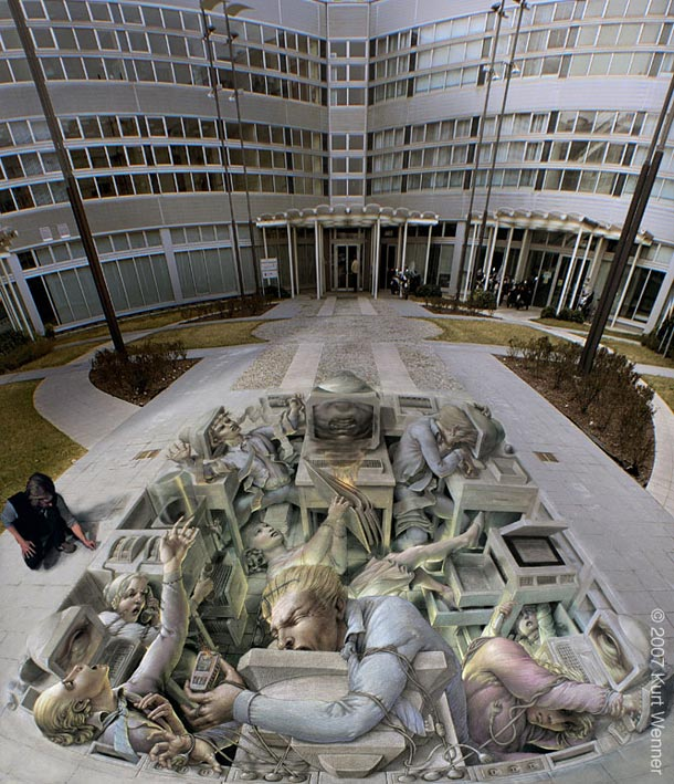 kurt wenner street art 111 30 Impressive 3D Sidewalk Chalk Artworks