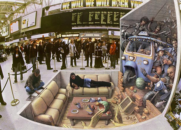 kurt wenner street art 31 30 Impressive 3D Sidewalk Chalk Artworks