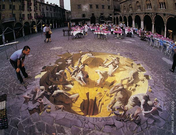 kurt wenner street art 61 30 Impressive 3D Sidewalk Chalk Artworks