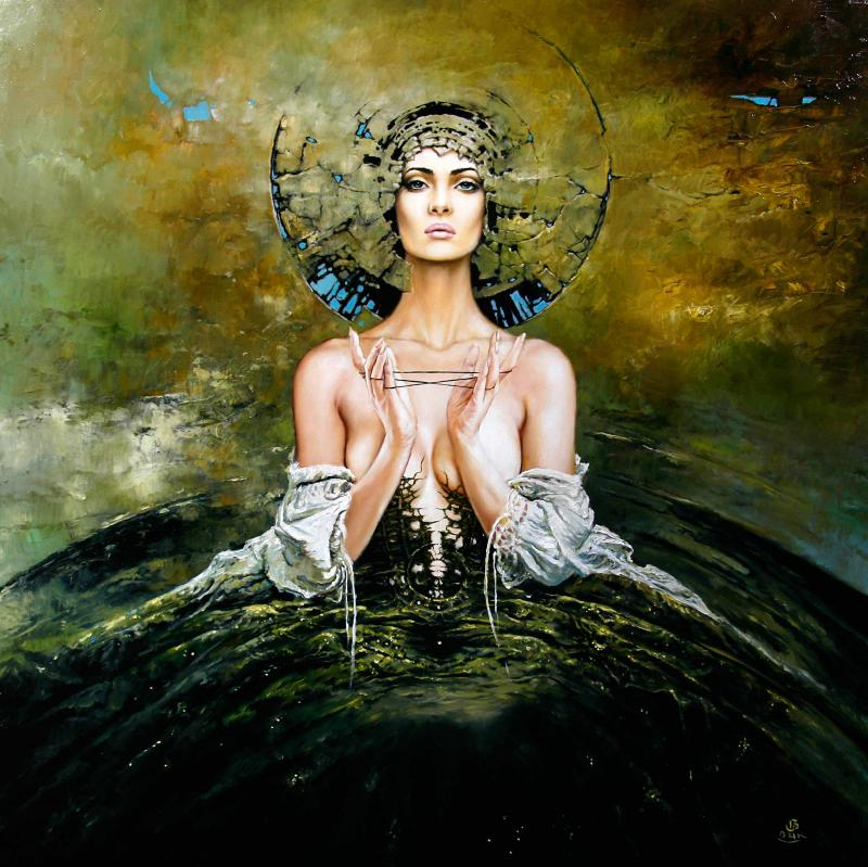 lachesis 100x100cm 20123501 20 Elegant Examples of Traditional Art by Karol Bak