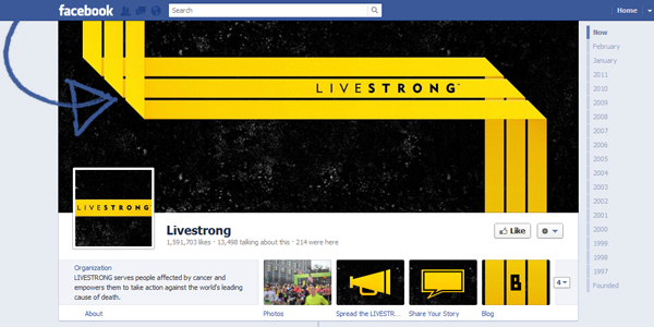 livestrong timeline page New Facebook Timeline for Brands: Rookie to Pro Guide