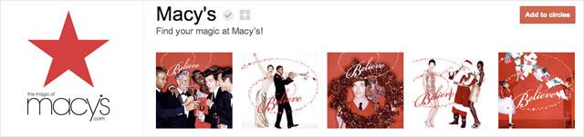 macys1 25 Great Examples of Google Plus Brand Pages