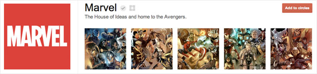marvel1 25 Great Examples of Google Plus Brand Pages