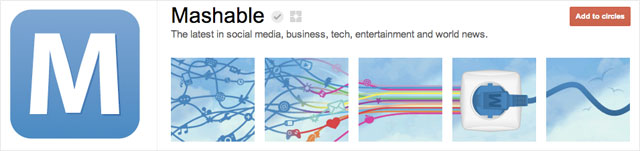 mashable1 25 Great Examples of Google Plus Brand Pages